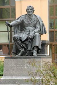 turgenev statue st petersburg