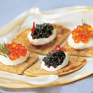 red caviar blini traditional russian food