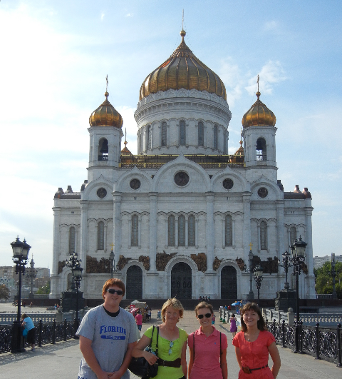 Cathedral of Christ the Savior, in Moscow