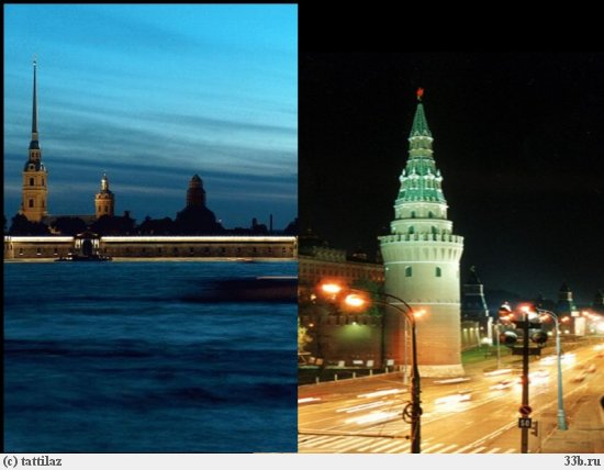Moscow and St.Petersburg