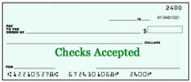 checks accepted