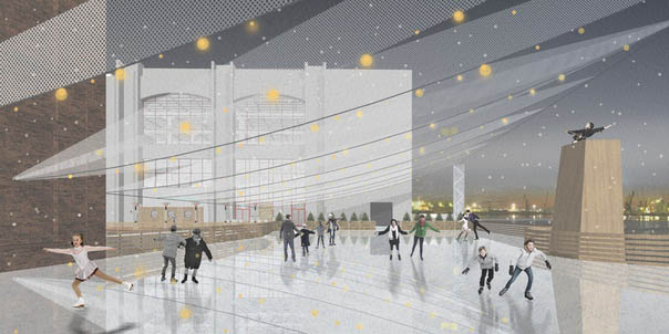 A New Ice Skating Rink in St.Petersburg