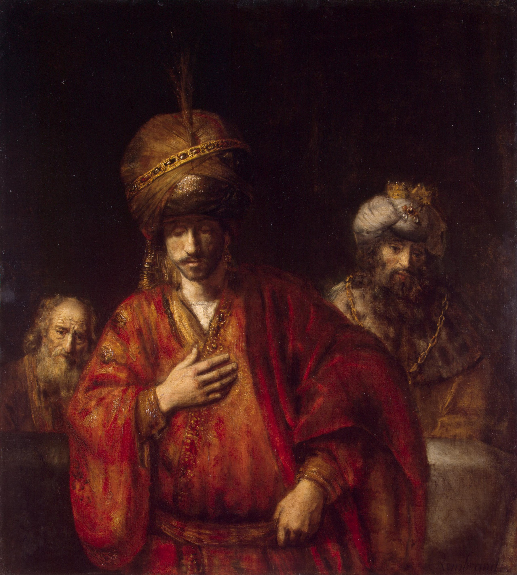 """The Fall of Haman"" Rembrandt"