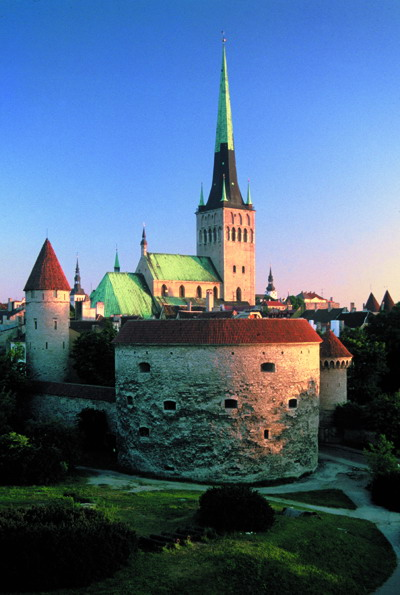 View of Old Tallinn Towers